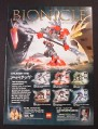 Magazine Ad for Lego Bionicle Toys, Rahkshi, 2003
