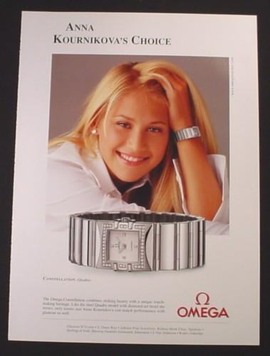anna kournikova watch ads