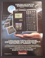 Magazine Ad for Sharp Wizard Electronic Organizer, Electronics, 1989