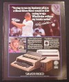 Magazine Ad for Silver Reed Typewriter & Printer, Martina Navratilova Celebrity