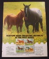 Magazine Ad for USPS Horse Stamps, 4 Breeds, U. S. Postal Service, Collecting, 1985