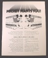 Magazine Ad Walt Disney Productions Recruitment Special Effects Apparatus Designers