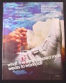 Magazine Ad for Adidas Men's Workout II Sneakers Shoes, 1985