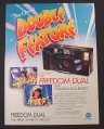 Magazine Ad for Minolta Freedom Dual Camera, 2 Built-In lenses, 1988