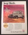 Magazine Ad for Jeep Wrangler Sahara, Jeep Sheik, 1988