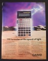 Magazine Ad for Casio FX-5000F Formula Calculator, 128 Formulas, 1988