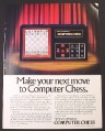 Magazine Ad for Mattel Electronics Computer Chess, Pocket Size, 1982