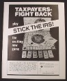 Magazine Ad for Stick The IRS Board Game, 1982