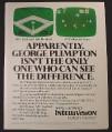 Magazine Ad for Intellivision Video Game, Compared to Atari, 1982