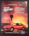 Magazine Ad for 1983 Ford Mustang GT, Steel Works in the Background, 1982