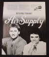 Magazine Ad for RadioRadio Air Supply Concert, 1982