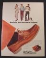 Magazine Ad for Hush Puppies Shoes, Mustang Bronco & Fury Styles, 1982