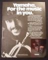 Magazine Ad for Yamaha Stereo System, Chuck Mangione Celebrity Endorsement