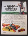 Magazine Ad for Gotcha Paint Gun Toy, Paintball, Entertech, 1987