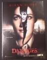 Magazine Ad for Damages TV Show, Glenn Close, 2007