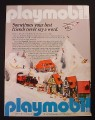 Magazine Ad for Playmobil Alpine Village, Train & Helicopter Toys, 1989