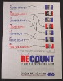 Magazine Ad for Recount HBO TV Show, Kevin Spacey, 2007