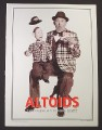 Magazine Ad for Altoids Ventriloquist with Dummy, 2000
