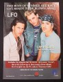Magazine Ad for LFO Boy Band Album, Life Is Good, 2001