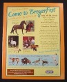 Magazine Ad for Breyer Horses Animal Toys, Breyerfest, 2002