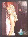 Magazine Ad for Curious perfume, Britney Spears Celebrity Endorsement