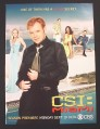 Magazine Ad for CSI Miami TV Show, 2005