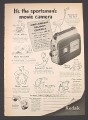Magazine Ad for Kodak Cine-Kodak Reliant Camera, Movie Camera, 1953