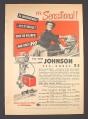 Magazine Ad for Johnson Sea-Horse 25 Outboard Motor, $390, 1951