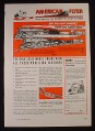 Magazine Ad for American Flyer Gilbert Railroad Train Set, #4607, #4611, 1947