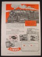 Magazine Ad for Lionel Railroad Train Set, Catalog & Sound Effect Record, 1947