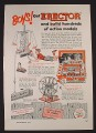 Magazine Ad for Erector Metal Building Set Toy, No. 6 1/2 Set, 1953
