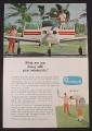Magazine Ad for Beechcraft Musketeer Airplane, Golfers, 1969
