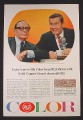 Magazine Ad for RCA Color TV Jack Benny Johnny Carson Celebrity Endorsement 1965