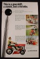 Magazine Ad for Massey-Ferguson MF 10 Garden Tractor, Gearshift  Clutch, 1968