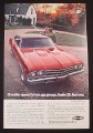 Magazine Ad for Chevrolet SS 396 Sport Coupe, Appeals to 2 Age Groups, 1969