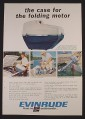 Magazine Ad for Evinrude 3 Hp Folding Outboard Motor with Case, 1966