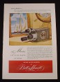 Magazine Ad for Bell & Howell Filmo Auto Master 16MM Movie Camera, 1948