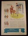 Magazine Ad for Frigidaire 34 Refrigerator, Ice Trays Don't Stick, 1934