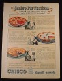 Magazine Ad for Crisco Vegetable Shortening, 4 Pastry Pie Recipes, 1934