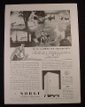 Magazine Ad for Norge Rollator Refrigeration Fridge, Vacation Paid For, 1934