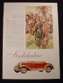 Magazine Ad for Studebaker President Straight Eight Roadster For Four Car, 1929