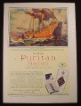Magazine Ad for Cudahay's Puritan Bacon, Fortune Ship, 1929