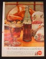Magazine Ad for Coke, Hot Foods Call For Ice Cold Coke, Bottle, Turkey, 1961