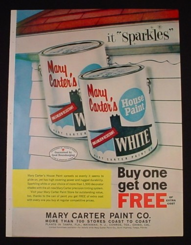magazine ad for mary carter 39 s house paint carter paint co