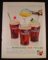 Magazine Ad for Coke Coca-Cola in Glasses, Floats, Dispenser Machine, 1961