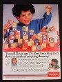 Magazine Ad for Playskool ABC Wooden Alphabet Blocks Toys, 1985
