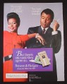 Magazine Ad for Benson & Hedges 100's Cigarettes, African American Couple, 1985