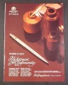 Magazine Ad for Parker Classic Pen, Statement for Craftsmanship, 1987, 8 1/3 by 10 3/4