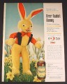 Magazine Ad for Brer Rabbit Plush offer by Brer Rabbit Molasses, 1963, 8 1/4 by 11