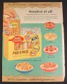 Magazine Ad for Betty Crocker Pick-A-Pack Cereals, Cheerios, Wheaties, Kix, Sugar Jets, Trix, 1957